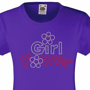 Diamanté Embellished T Shirt Gift  for Girls Heart with Wings Rhinestone