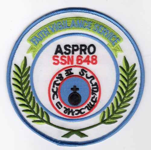 USS Aspro SSN 648 Cat No Patch C5404 Crest 4 1//2 inch