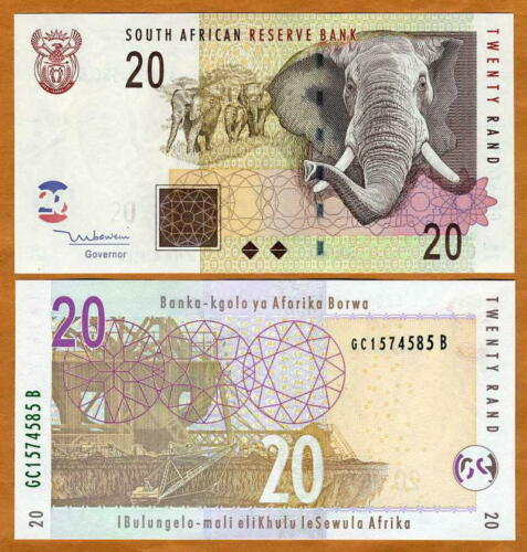 South Africa R10 2012 UNC banknote featuring Nelson Mandela Paper Money