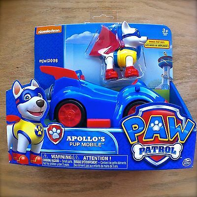 Nickelodeon PAW PATROL APOLLO'S PUP MOBILE Spin Master 3+ Appollo Super Dog Car