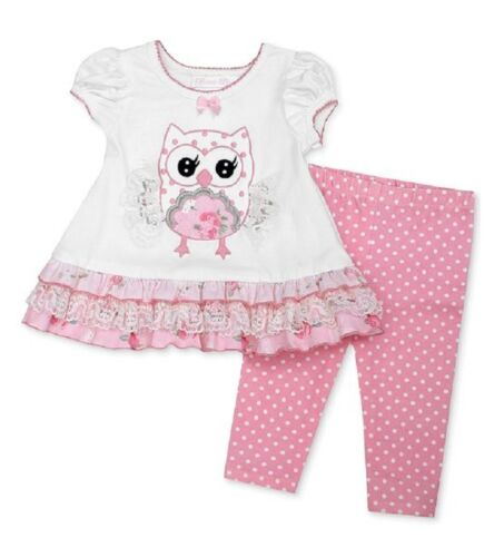 Bonnie Baby by Bonnie Jean Two Piece Owl Top and Legging Set