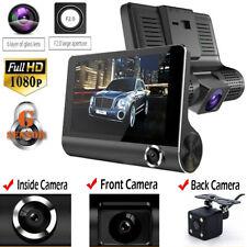 4'' Dual Lens Camera HD 1080p Car DVR Video Dash Cam Recorder Rearview G-sensor