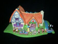 EUC 100% Complete (Light Up) Disney Polly Pocket Snow White and the Seven Dwarfs