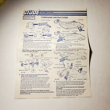 G.I JOE Series 5 Vintage Blueprints Original Instructions TOMAHAWK