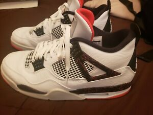 "Air Jordan 4 Retro /""Flight Nostalgia/"" Hot Lava White Bright Crimson 308497-116"