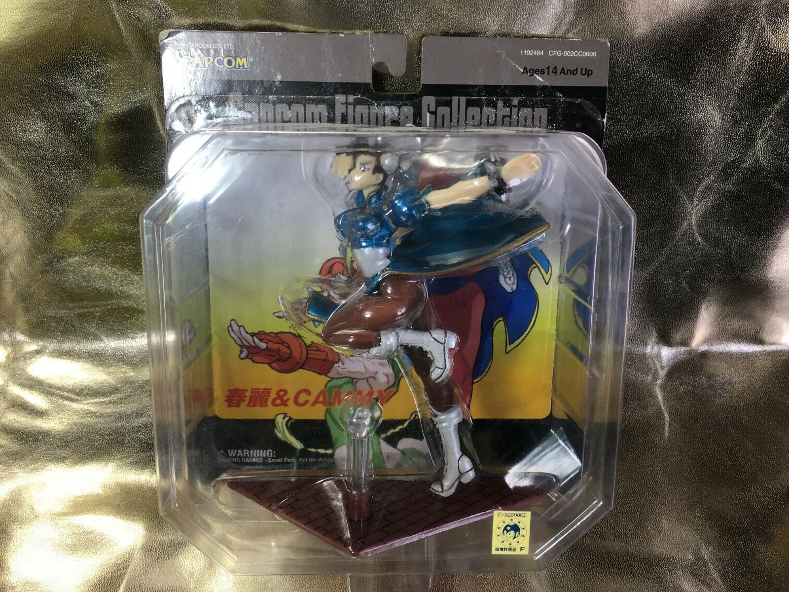 FIGURA STREET FIGHTER CAMMY blueE DE CAPCOM