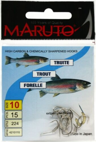 Maruto Bienenmaden Forellenhaken Gr.10