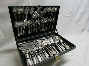 WM-Rogers-amp-Son-Silver-Plated-Dinnerware-57-Pieces
