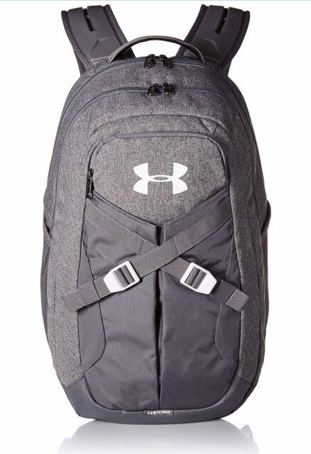 New Under Armour Recruit 2.0 Bookbag Backpack - Graphite Medium Heather    White e295ac619def