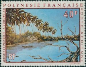 French-Polynesia-1971-Sc-C79-SG148-40f-Lagoon-painting-MNG