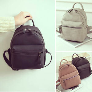 Women's Faux Leather Small Mini Backpack Rucksack Cute bag ...
