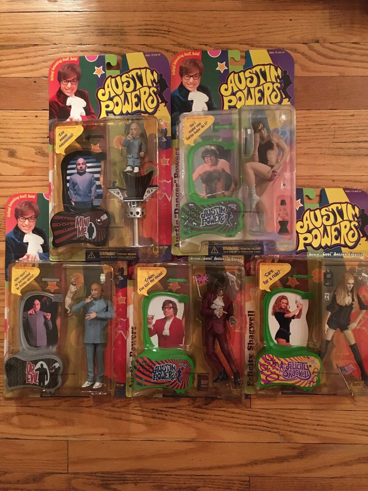AUSTIN POWERS Action Figures LOT (5) MCFARLANE Toys 1999 Dr Evil Mini Me