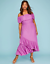 Lane-Bryant-Womens-Off-the-Shoulder-Ruffle-Maxie-Dress-Plus-14-16-18-20-Orchid thumbnail 1