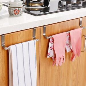 Kitchen Cupboard Hanger Stainless Steel Bathroom Towel Stand Rack Cabinet Door