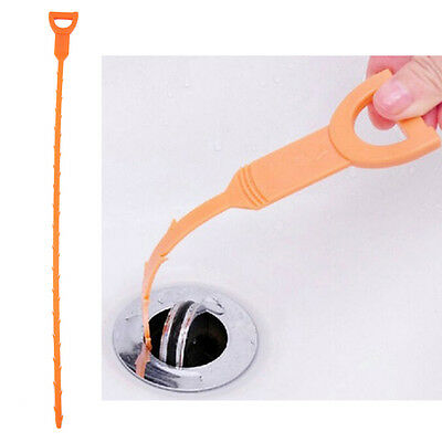 Snake Drain Sink Cleaner Removes Clogged Hairs Bathroom Shower Kitchen Tools ##