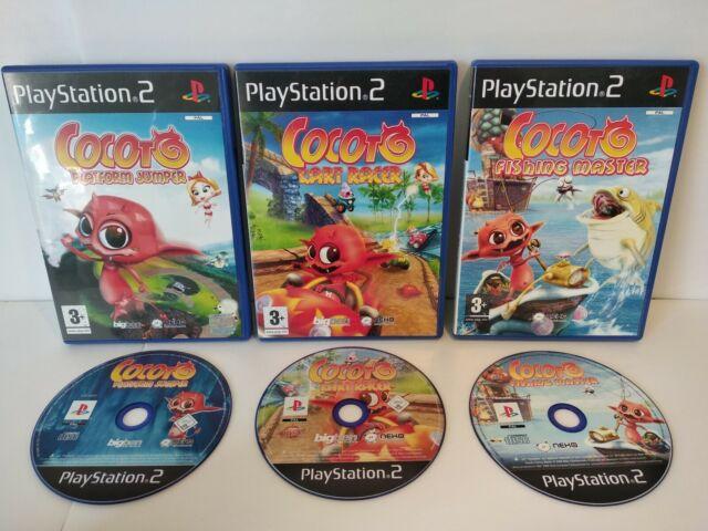 COCOTO Platform Jumper/Kart Racer/Fishing Master -3 jeux PS2 -PAL-Très bon état