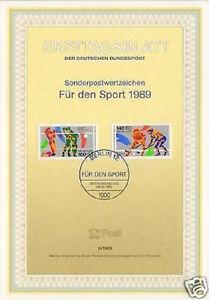 Berlin-1989-Volleyball-Feldhockey-Sportmarken-Ersttagsblatt-der-Nr-836-837