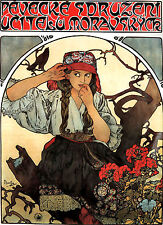 Alfons Alphonse Mucha A3 Size Poster Moravian Teachers Art Nouveau & FREE Print