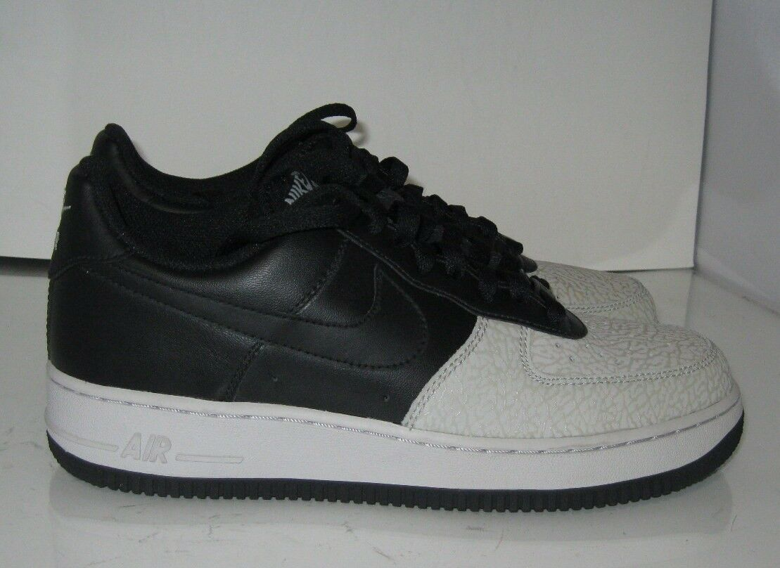 Nike Air Force 1 Bajo Bajo Bajo Negro Gris Neutral 317295 002 Talla 8 6a8e40