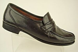 Image is loading Allen-Edmonds-Bergamo-Black-Leather-Loafers-Dress-Shoes- 62b47bd89fb