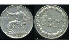 ITALIE  ITALY  1 lire 1922   ( etat )