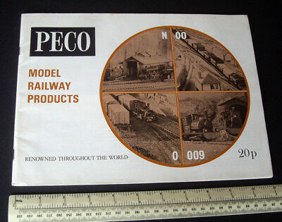 1971 Peco Uk Catalogue 00/h0 N 0 009 Gauge Locomotives, Rolling Stock, Track Etc