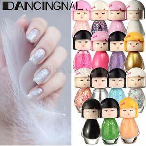 Cute-Baby-Doll-Acrylic-Neon-Nail-Art-Tip-Polish-Bright-Glitter-Manicure-Varnish