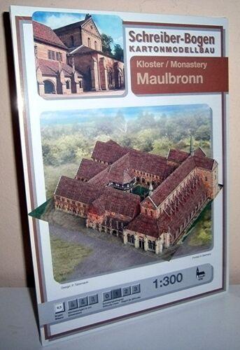 KARTONMODELLBAU Kloster Maulbronn  SCHREIBER-BOGEN 636 Cardboard Modelling