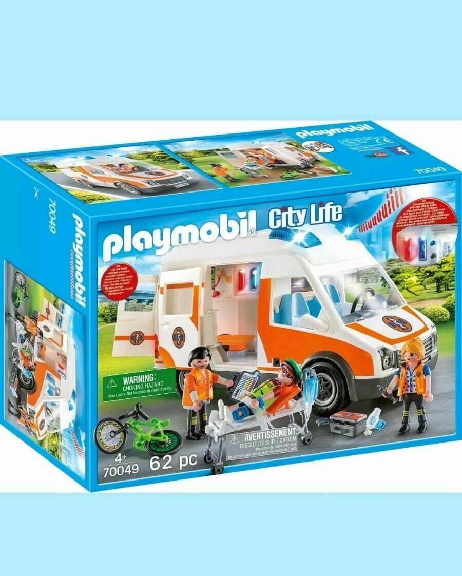 Playmobil 70049 City Life Ambulance with Lights & Sound New +Free 24h Delivery