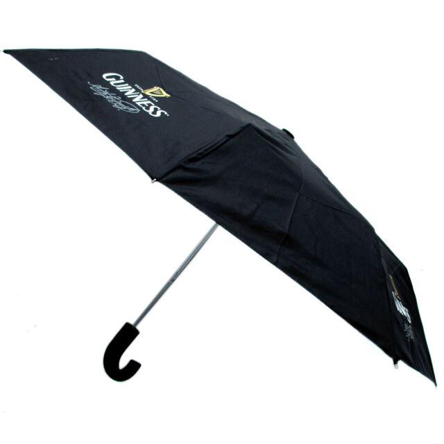 100Cm Diameter Black Guinness Embossed Umbrella