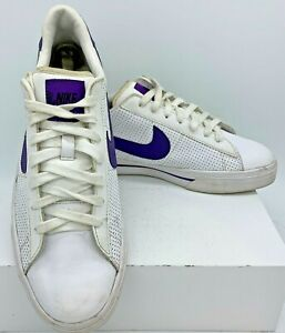 ee8b9b0a10c6 Men s NIKE Sweet Classic Leather White Purple Low Shoes US Sz 10 ...