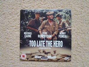 Promotional DVD Too Late the Hero 15 Widescreen presentation Michael Caine - <span itemprop='availableAtOrFrom'>Leicester, United Kingdom</span> - Promotional DVD Too Late the Hero 15 Widescreen presentation Michael Caine - <span itemprop='availableAtOrFrom'>Leicester, United Kingdom</span>