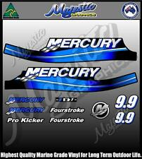 MERCURY 9.9 hp - BLUE - DECAL SET - OUTBOARD DECALS