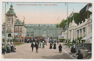 Bruxelles Exhibition 1910 postcard - Salle des Fetes - P/U 1910 (A50)