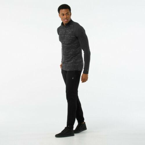 SmartWool Mens Merino 250 Pattern 1//4 Zip Long Sleeve Baselayer Grey