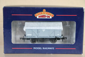 BACHMANN-37-803A-LMS-GREY-12-TON-PLANKED-VENTILATED-VAN-WAGON-518520-BOXED-nx