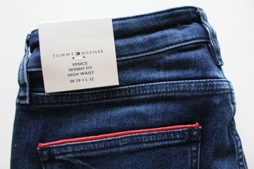 Blau W26,28,29,30,31,32 L32 Tommy Hilfiger Venice HW Babella Skinny Fit Jeans