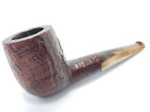 Vintage-ROPP-034-STOUT-034-CHUBBY-SHORT-NUB-PIPE-w-Genuine-Horn-Stem-MINT