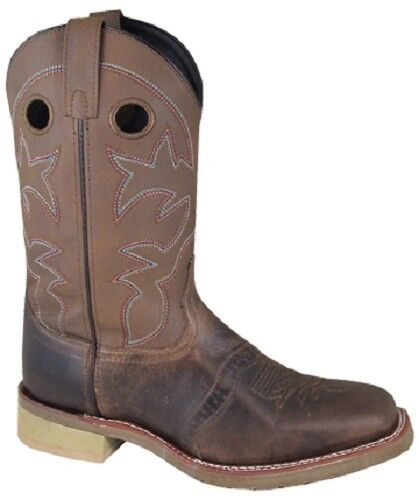 NEW  Smoky Mountain Boots - Men's Western Cowboy - Leather Brown Square Toe