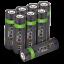 miniature 40 - Rechargeable Haute capacité AAA/AA Batteries Et 8-Way dock de chargement-Venom