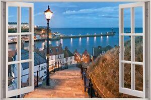 Huge-3D-Window-view-Exotic-Harbour-Bay-Beach-Wall-Sticker-Mural-Art-Decal-1163