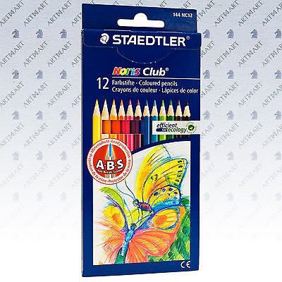 STAEDTLER 12 Colouring Pencils Noris Club Art Artist Drawing Coloured Pencil Set