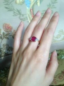 Unheated-Burma-Ruby-Ring-set-with-Diamond-and-18K-Yellow-Gold