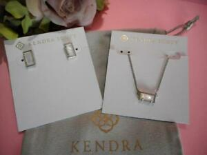 Kendra Scott Set Of 2 Pattie Necklace Amp Paola Earring Ivory Mother Of Pearl Nwt Ebay