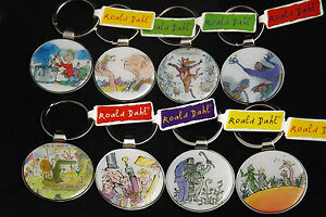 Roald-Dahl-Keyrings-BFG-The-Witches-Charlie-and-the-Chocolate-Factory