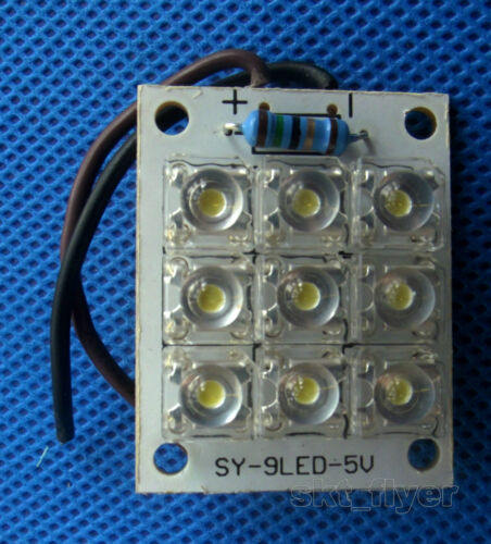 5 V 9-DEL super bright Blanc Chaud Piranha DEL Board Night DEL Lumières Lampe