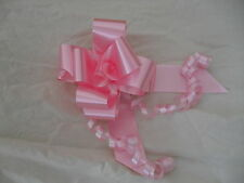 5 x 50mm Pull Bows PINK Excellent for Florisrty, Wedding Cars & Pew ends.
