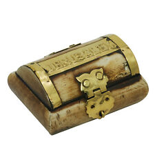 Authentic MINI size camel bone box, vintage gift Jerusalem brass copper letters