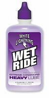 White Lightning Wet Ride Synthetic Lubricant 4oz Bike Chain Bicycle Lube