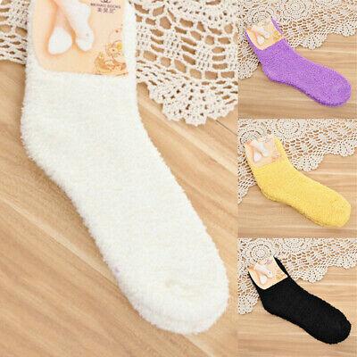Warm Thick Socks Women Lady Sock Plush Fluffy Cozy Winter Fuzzy Bed Floor Siusyn